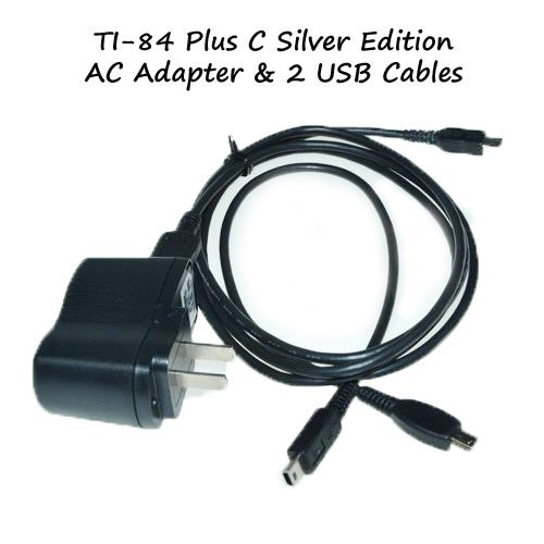 TI-84 Plus C Silver Edition Charger Power Adapter With 2 USB Model: 5V1AKIT Office Supply Store (Ti Ii Plus compare prices)