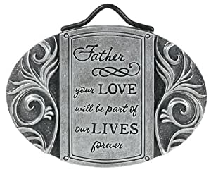 Carson Home Accents Father's Peaceful Reflections Garden Stake