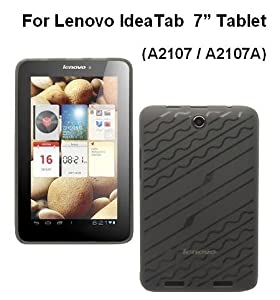 HappyZone Rubberized TPU Skin Case Cover For Lenovo IdeaTab Tablet A2107 / A2107A 7-INCH - Smoke from Electronic-Readers.com