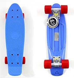 Buy Fish Skateboard Retro Plastic Cruiser Blue Board Hundreds Supreme Diamond Supply by Fish Brand