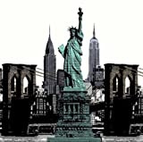 PHACA High Quality No More Mildew Perfect Touch Statue of Liberty PEVA Waterproof Bathroom Shower Curtain Liner