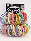 Goody Styling Essentials Girls Assorted Elastics, Ouchless, 60 Count