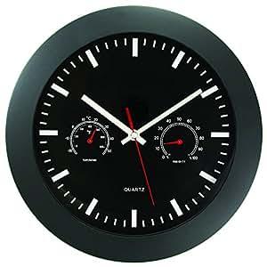 clocks wall clocks timekeeper 6990 12 temperature humidity wall clock