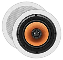 OSD Audio ICE640 6.5-inch Mica-filled Polypropylene Woofer 150-Watt Water-resistant In-Ceiling Speaker Pair