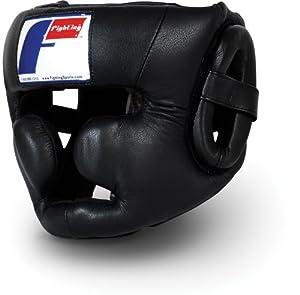 Fighting Sports Pro Full Training Headgear, Black, Large