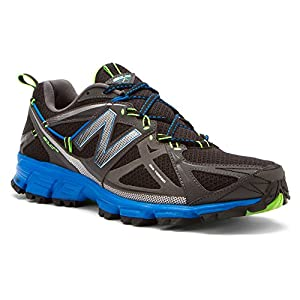 New Balance Men's MT610V3 Trail Running Shoe,Black/Blue,13 D US