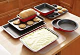 Collections Etc - Complete 8 Pc. Non-Stick Bakeware Set