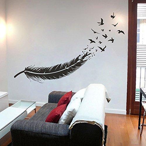 birds-of-a-feather-feather-da-parete-adesivo-decorazione-vinile-murale-feather-artistiche-adesivi-pe