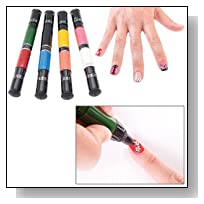 Migi Nail Art Polish Design 8 Classic Colors - Set of 4 Pen-brushes