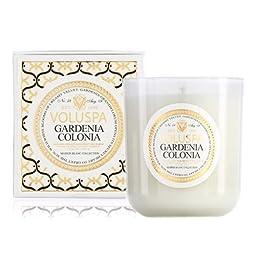 Voluspa Gardenia Colonia Classic Maison Candle, 100 hour 12 oz