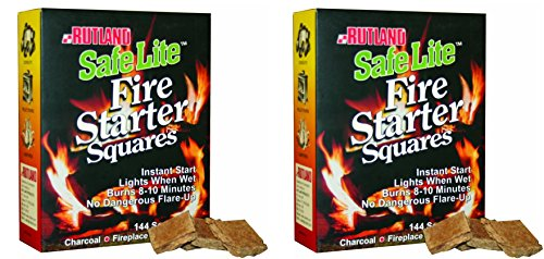 Why Should You Buy Rutland Safe Lite Fire Starter Squares, 144-Square - 2 Pack
