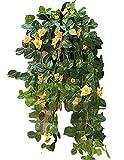 【SCGEHA】フェイクグリーン インテリア イミテーション 人工 観葉植物 壁掛け 癒し 造花 4カラー (イエロー/2本)