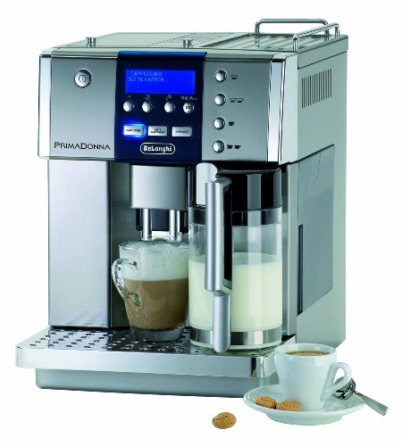 DeLonghi One Touch ESAM6600 Kaffee-Vollautomat PrimaDonna (1.8 l, integriertes Milchsystem ) silber