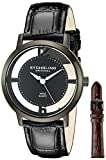 Stuhrling Original Men's 388G2.SET.04 Winchester Cathedral Black Ion-Plated Stainless Steel Watch