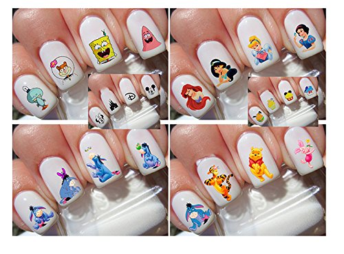 400 Mix Super Cute Cartoon Nail Art Decals (Southern Princess Decal compare prices)