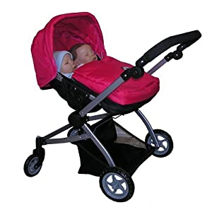 Amazon.com: The New York Doll Collection Twin Doll Babyboo Stroller