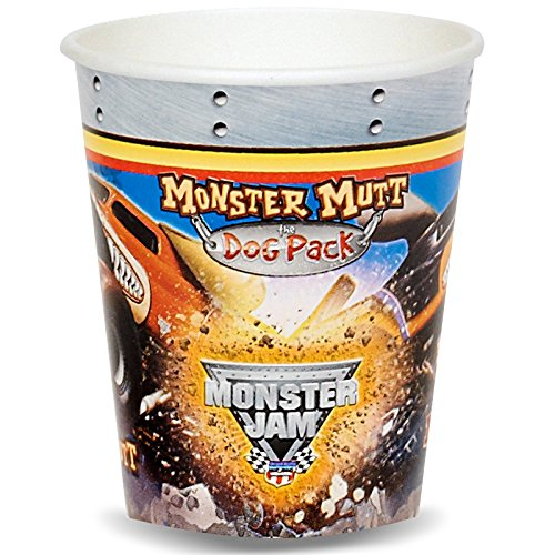 Monster Jam Party Supplies - 9 oz. Paper Cups (8)
