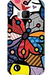 AMEZ designer printed 3d premium high quality back case cover for HTC One M9 (art)