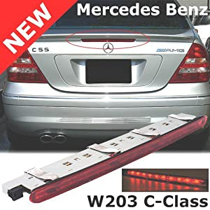 mercedes benz w203 c230 c240 c280 c320 c350 third stop brake light red 2001 2002. Black Bedroom Furniture Sets. Home Design Ideas