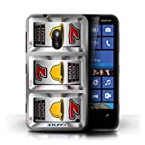STUFF4 Phone Case Cover for Nokia Lumia 620 Bells Design Slot Machine Collection