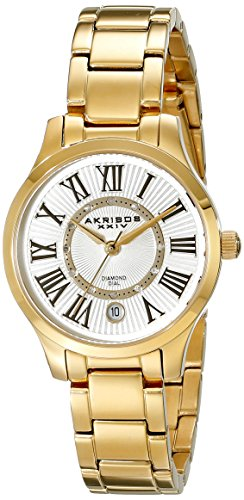 Akribos XXIV Women's Lady Diamond-Accented Stainless Steel Watch