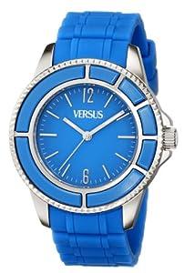 (新品)Versus by Versace Women's SGM040013 Tokyo Stainless Steel亮蓝色折后$119