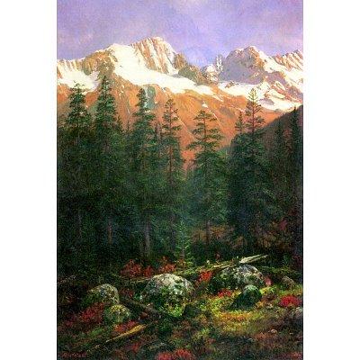 Albert Bierstadt Canadian Rockies Art Print Poster - 11x17