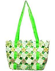 Magenta Blues Tetra 8 Ltrs Green Reusable Shopper Bags