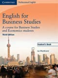 img - for English for Business Studies Student's Book: A Course for Business Studies and Economics Students (Cambridge Professional English) book / textbook / text book