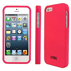 EMPIRE Apple iPhone 5 Case Hot Pink Rubberized Hard Cover Case