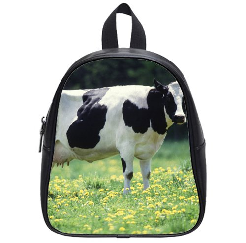 hot sale Cow female black white Custom Kids School Backpack Bag(Small) comfortable