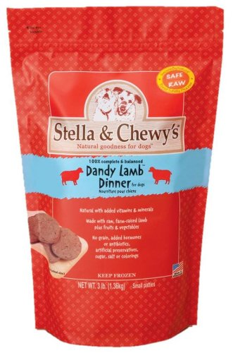 Stella & Chewy's Frozen Dandy Lamb Dinner for Dog, 3-Pound