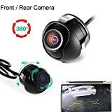 CAIRUTE® Universal Mini CCD High Definition Night Vision 360 Degree Car Rear Front Side View Backup Camera With Mirror Image Conversion Lines