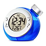 Ibepro Water Power Clock デジタル時計/置き時計/水時計 電池不要!水だけで動く時計!エコ!!カレンダー/温度/日付表示 部屋装飾 多機能性 省エネルギー (ブルー)