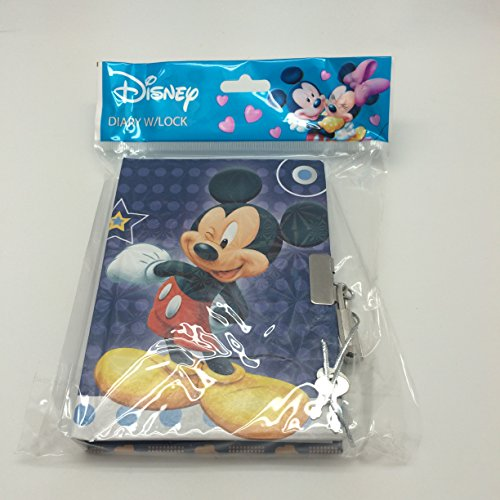 Disney Mickey & Minnie 150 Pages Diary with Lock - Mickey - 1