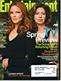 Entertainment Weekly March 28, 2008 Marcia Cross & Dana Delany/Desperate Housewives Cover, Spring TV Preview, Batman Update - Latest on The Dark Knight