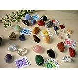 28 Natural Large Tumbled Stones Basic Chakra Balancing Healing Kit Set Reiki & Using Feng Shui