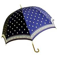 【晴雨兼用傘】 プロバンスフラワー ブルー 8262