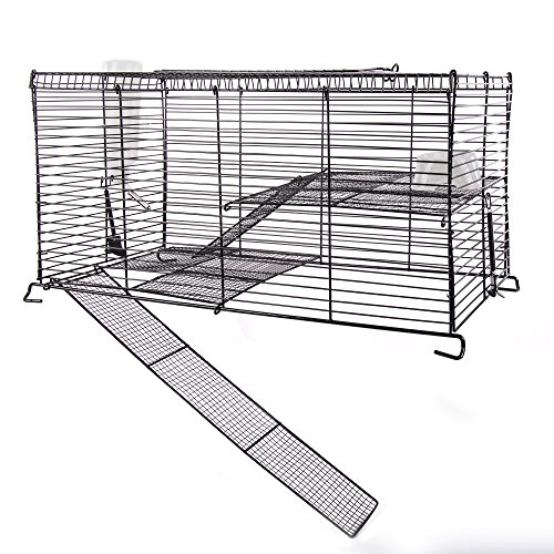 Ware Manufacturing Chew Proof High Rise Pet Cage for Small Pets 514ahczlTcL