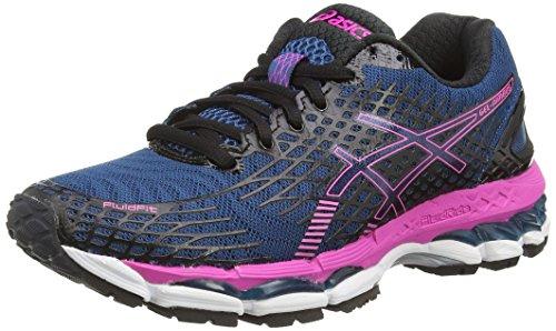 ASICS Gel-Nimbus 17, Chaussures de Running Entrainement Femme - Bleu (mosaic Blue/onyx/pink Glow 5399), 37 EU (4 UK )