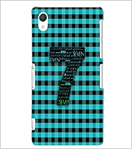 PrintDhaba Typographic Number Seven D-5086 Back Case Cover for SONY XPERIA Z2 (Multi-Coloured)