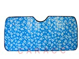 Automotive Windshield Sun Shade - Blue Hawaiian Hibiscus Flower