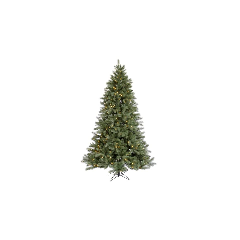 15 Blue Albany Spruce Christmas Tree w/ 7231T 3015 Led WmWht Lights