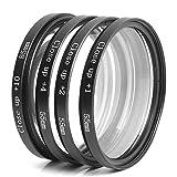 Henweit Close up Lens +1+2+4+10 Macro Filter Set + FREE UV Filter for Sony Alpha DSLR A99 A77 A65 A57 A37 A290 A380 A390 A550 A560 A580 A100 A200 A300 A350 (55mm)