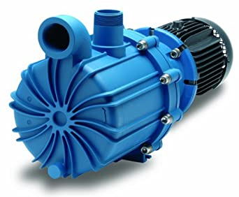 Finish Thompson SP22P-3-21-M239 Centrifugal Magnetic Drive Pump, Polypropylene, 10 HP, 230/460V, 3 Phases, 175.4 Max Feet of Head, 252.7 gpm