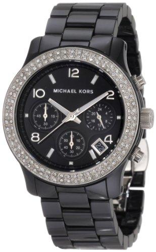 Michael Kors Women's MK5190 Black Ceramic Runway Glitz Watch