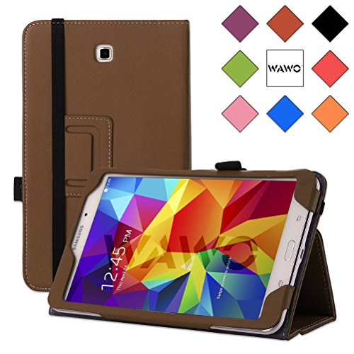 Wawo Samsung Galaxy Tab 4 8.0 Inch Tablet Smart Cover Creative Folio Case - Brown