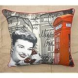Which Kraft Cotton Canvas Lon12 Cushion Cover- Multi Color, 40.64 Cm X 40.64 Cm
