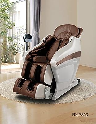 ExacMe Full Body Zero Gravity Shiatsu Massage Chair Recliner Soft 3D MP3 Arm Massager Brown 7803BR
