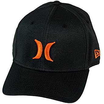 Hurley Men's One and Only New Era Hat, Orange, S-M
